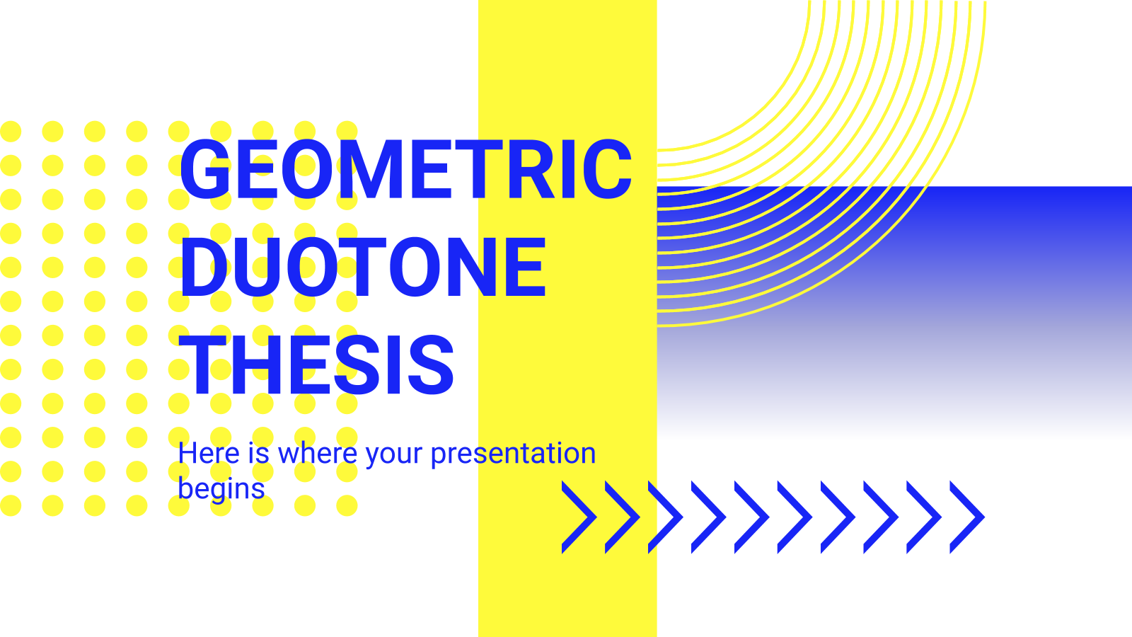 Geometric Duotone Thesis presentation template