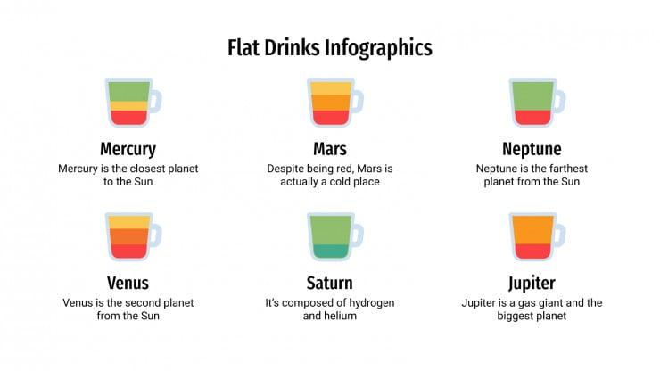 Flacher Getränk Infografiken Präsentationsvorlage