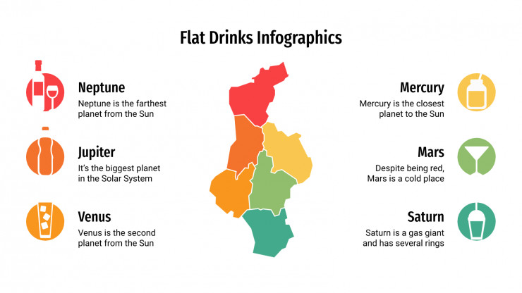 Flat Drink Infographics presentation template