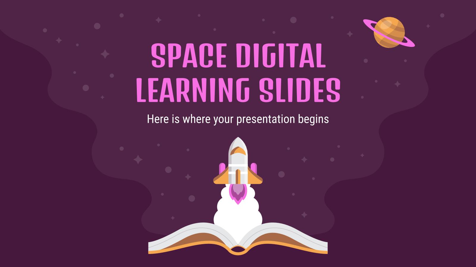 Modelo de apresentação Ensino digital espacial