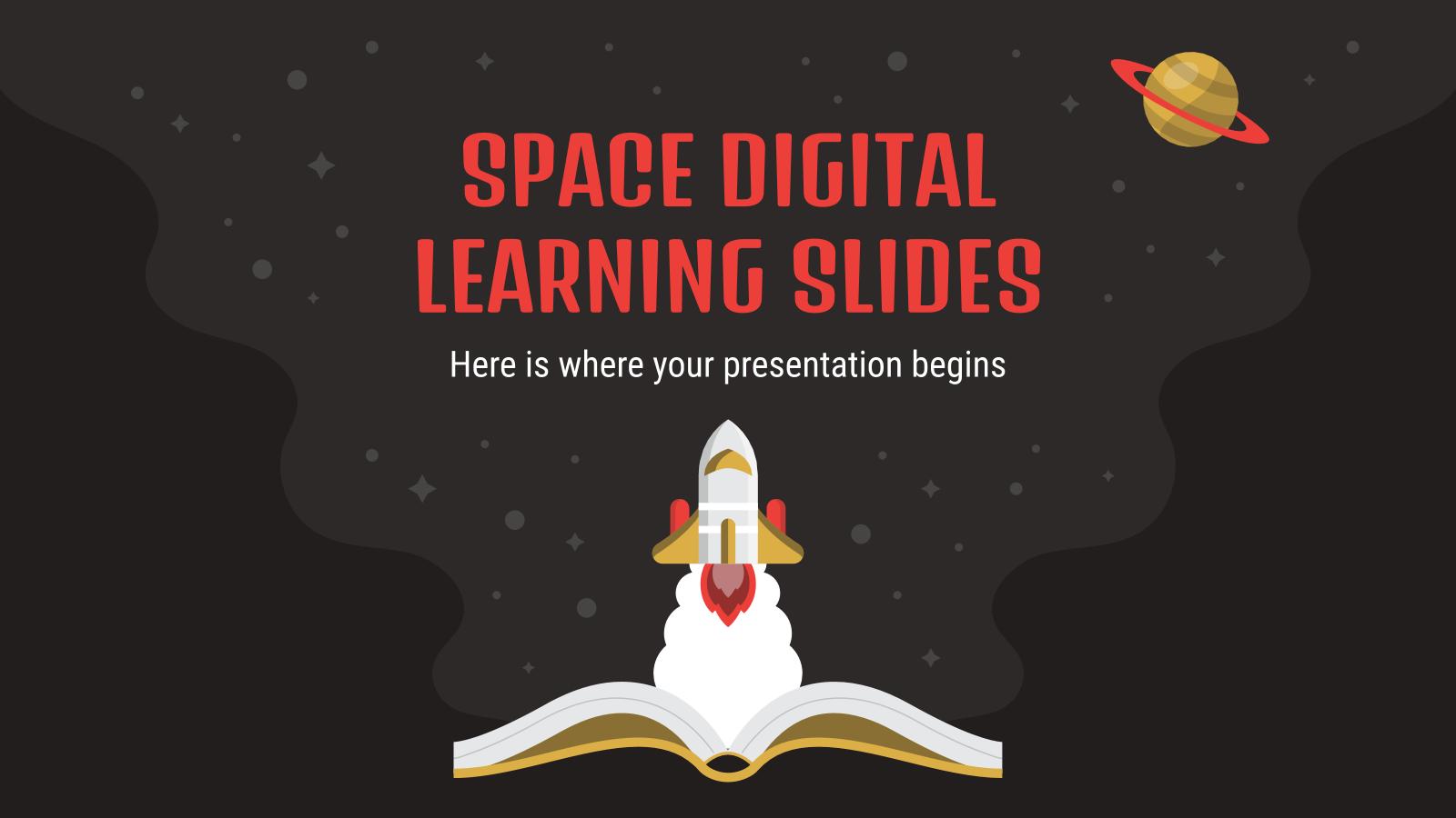 Plantilla de presentación Educación digital: Ciencias