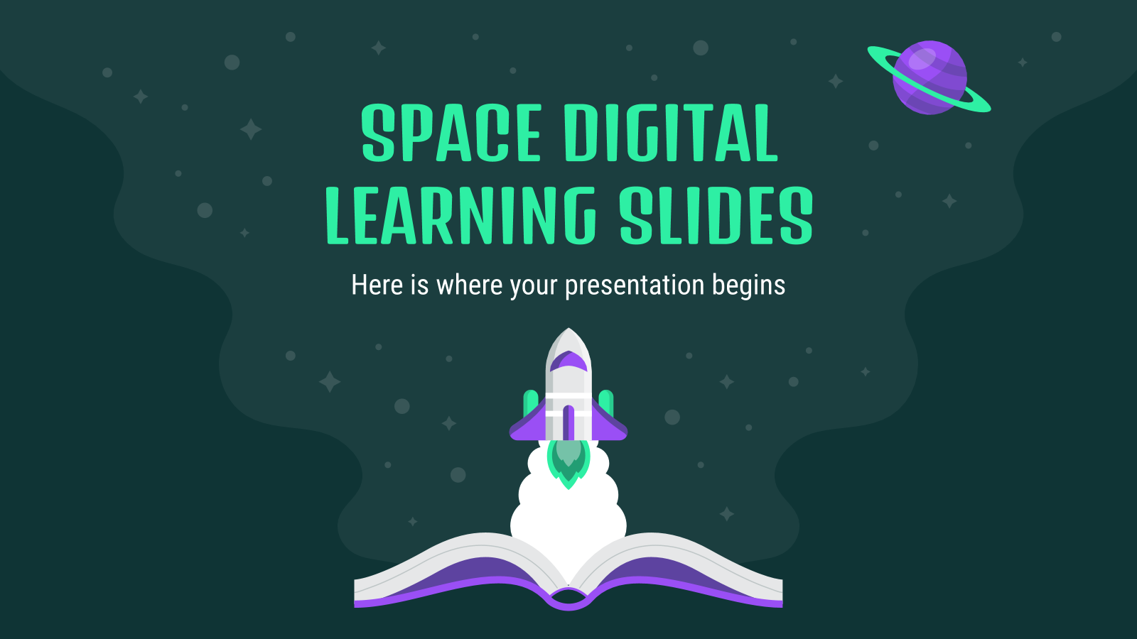 Space Digital Learning Slides presentation template