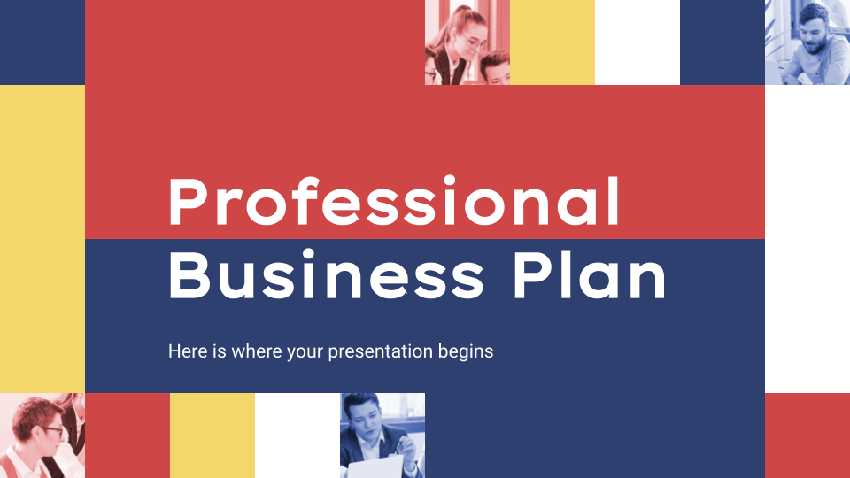 Professional Business Plan presentation template