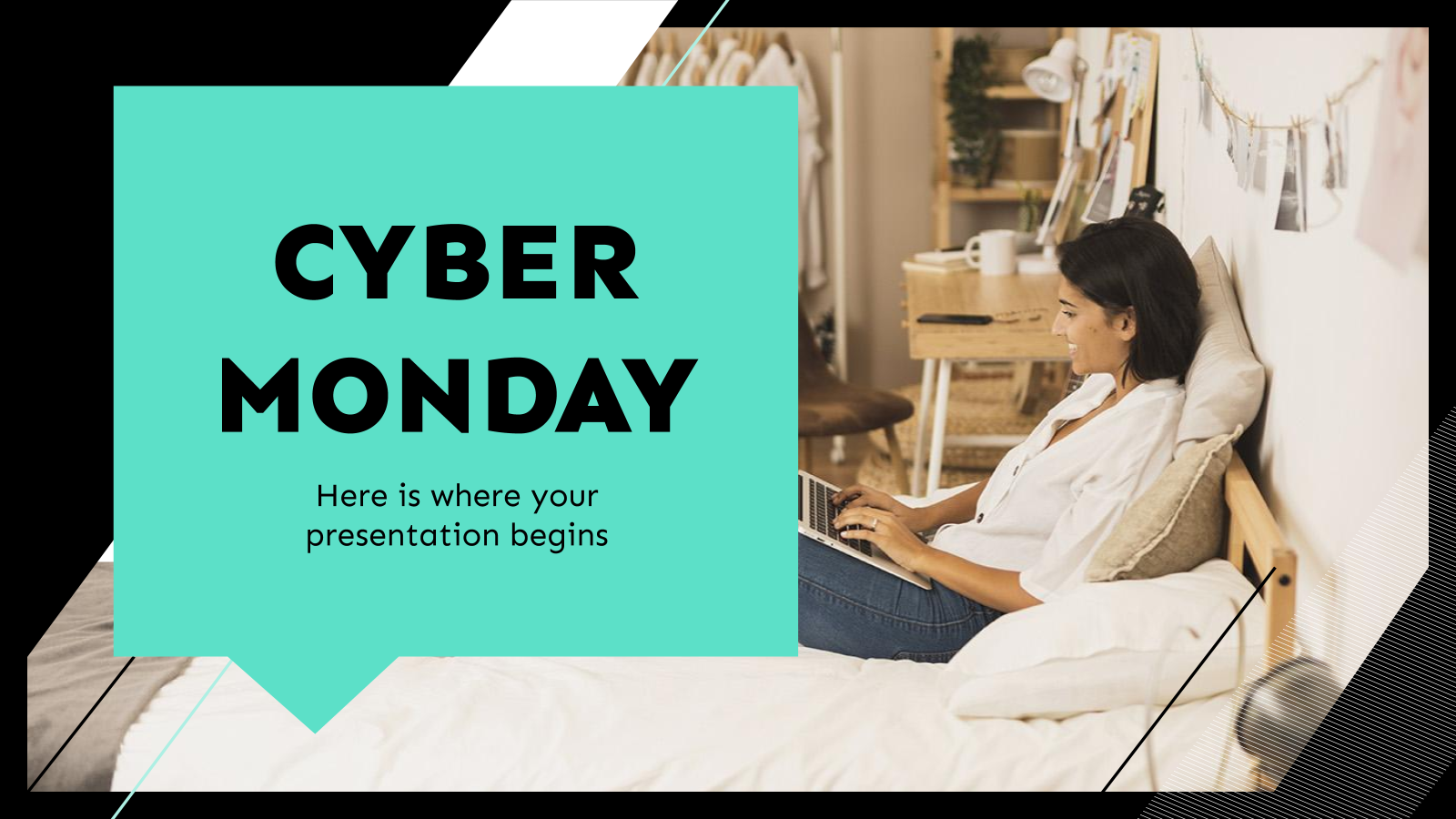 Plantilla de presentación Estrategia para Cyber Monday