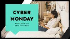 Modelo de apresentação Cyber Monday