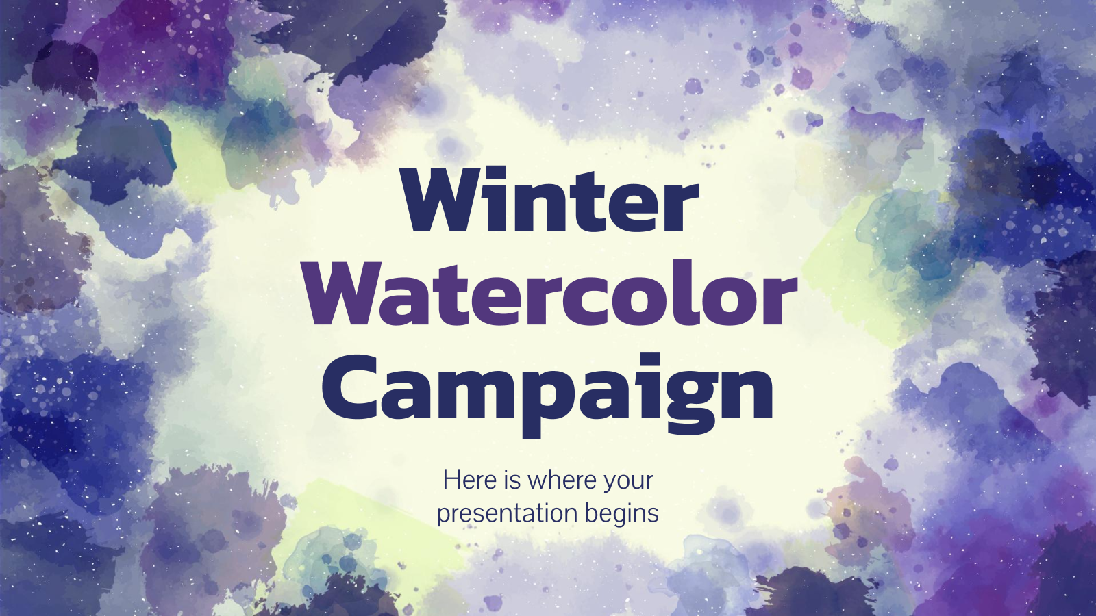 Winter Watercolor Campaign presentation template