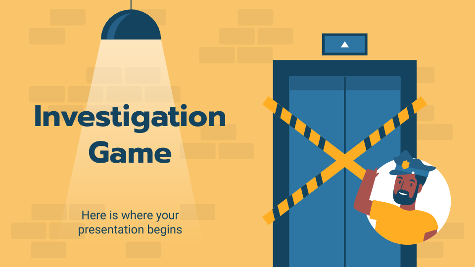 Investigation Game presentation template