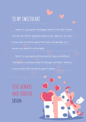 Colorful Love Letters presentation template