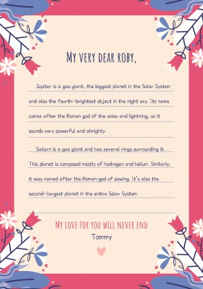 Plantilla de presentación Cartas de amor coloridas
