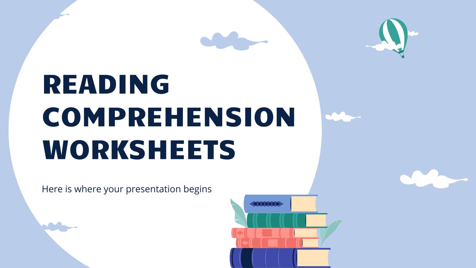 Modelo de apresentação Folhas de compreensão de texto