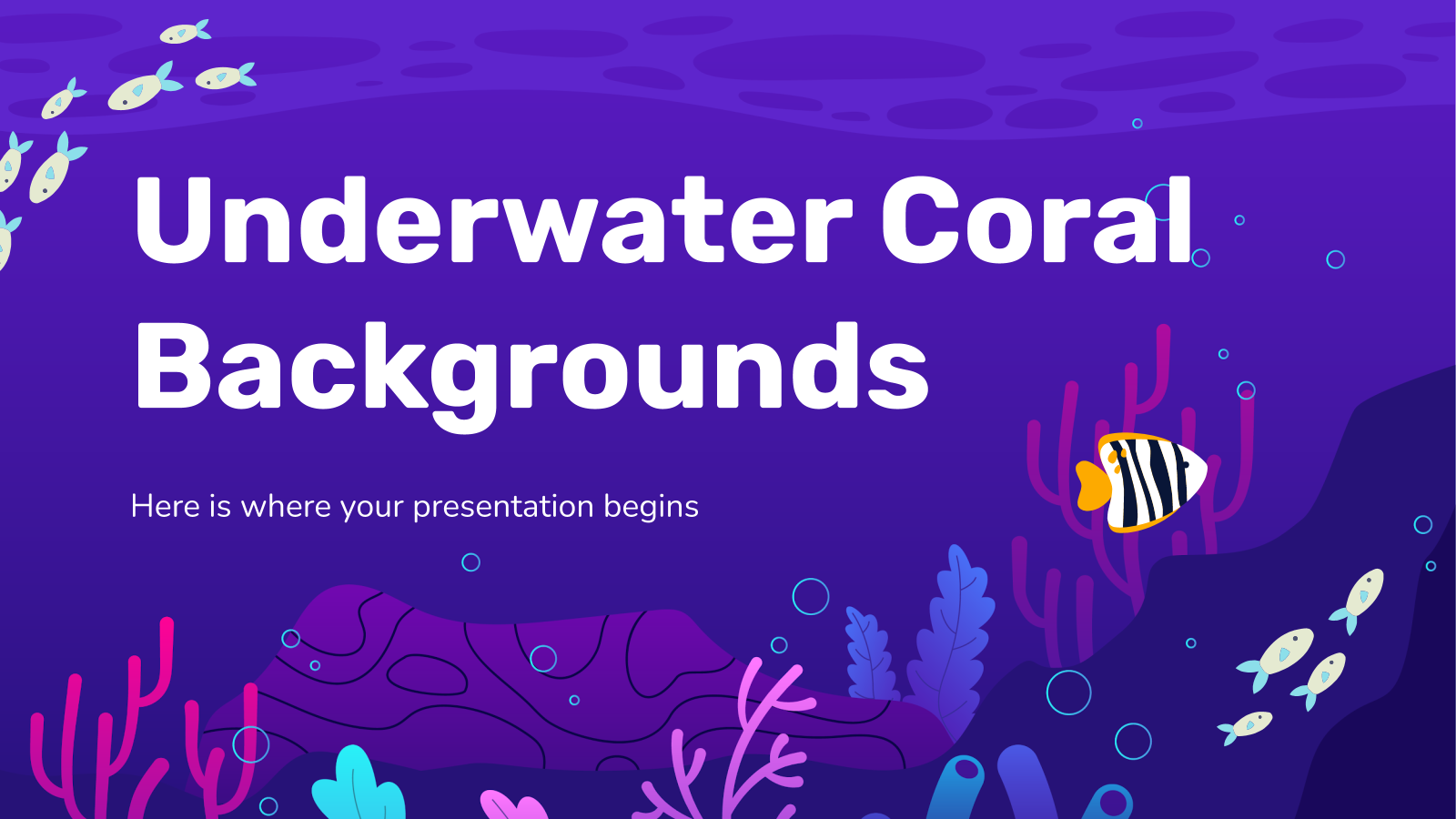 Underwater Coral Backgrounds presentation template