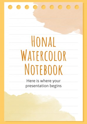 Honal Watercolor Notebook presentation template