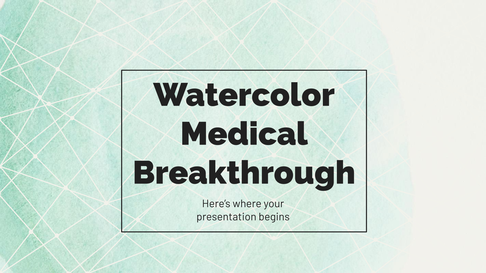 Watercolor Medical Breakthrough presentation template