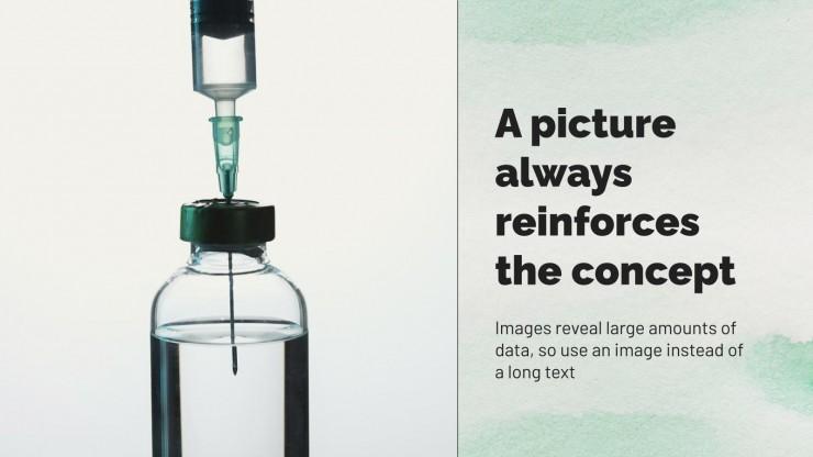 Modelo de apresentação Pesquisa médica com aquarela