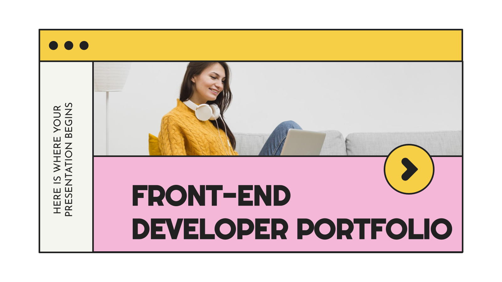 Front-End Developer Portfolio presentation template