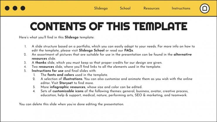 Front-End Developer Portfolio presentation template