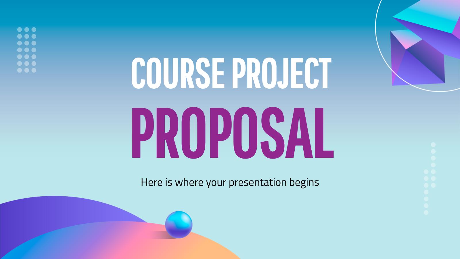 Plantilla de presentación Propuesta de proyecto con formas 3D
