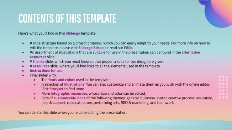 Course Project Proposal presentation template