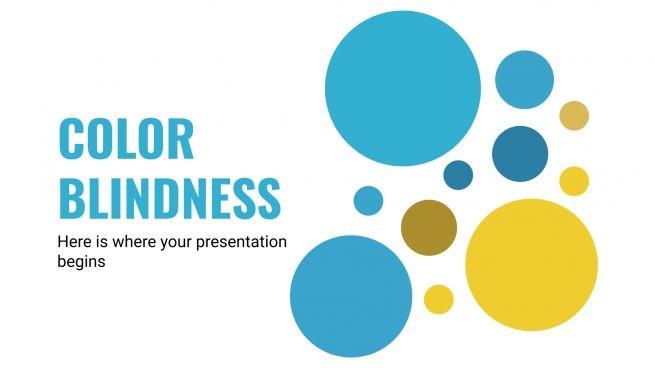 Plantilla de presentación Diapositivas sobre el daltonismo