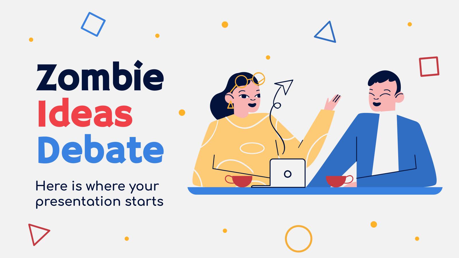 Plantilla de presentación Debate sobre las ideas zombi