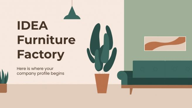 Plantilla de presentación Perfil de fabricante de muebles