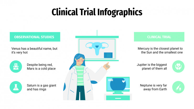 Clinical Trial Infographics presentation template