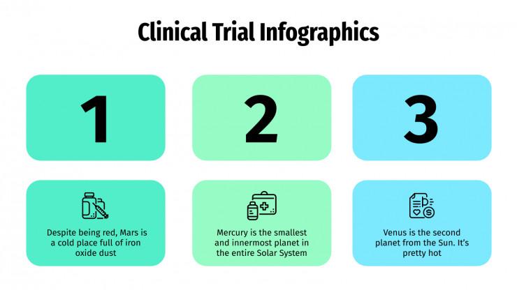 Plantilla de presentación Infografías de ensayos clínicos