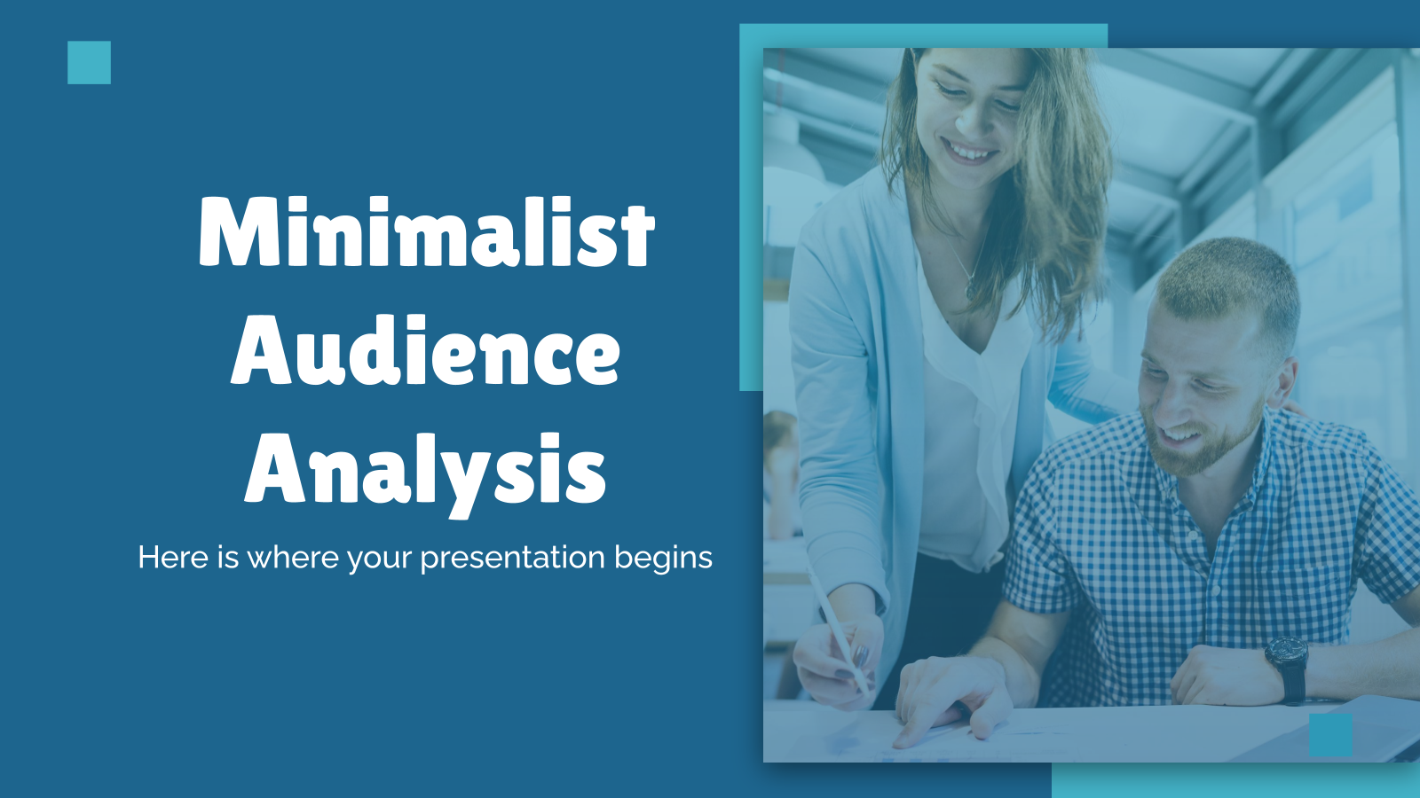 Minimalist Audience Analysis presentation template
