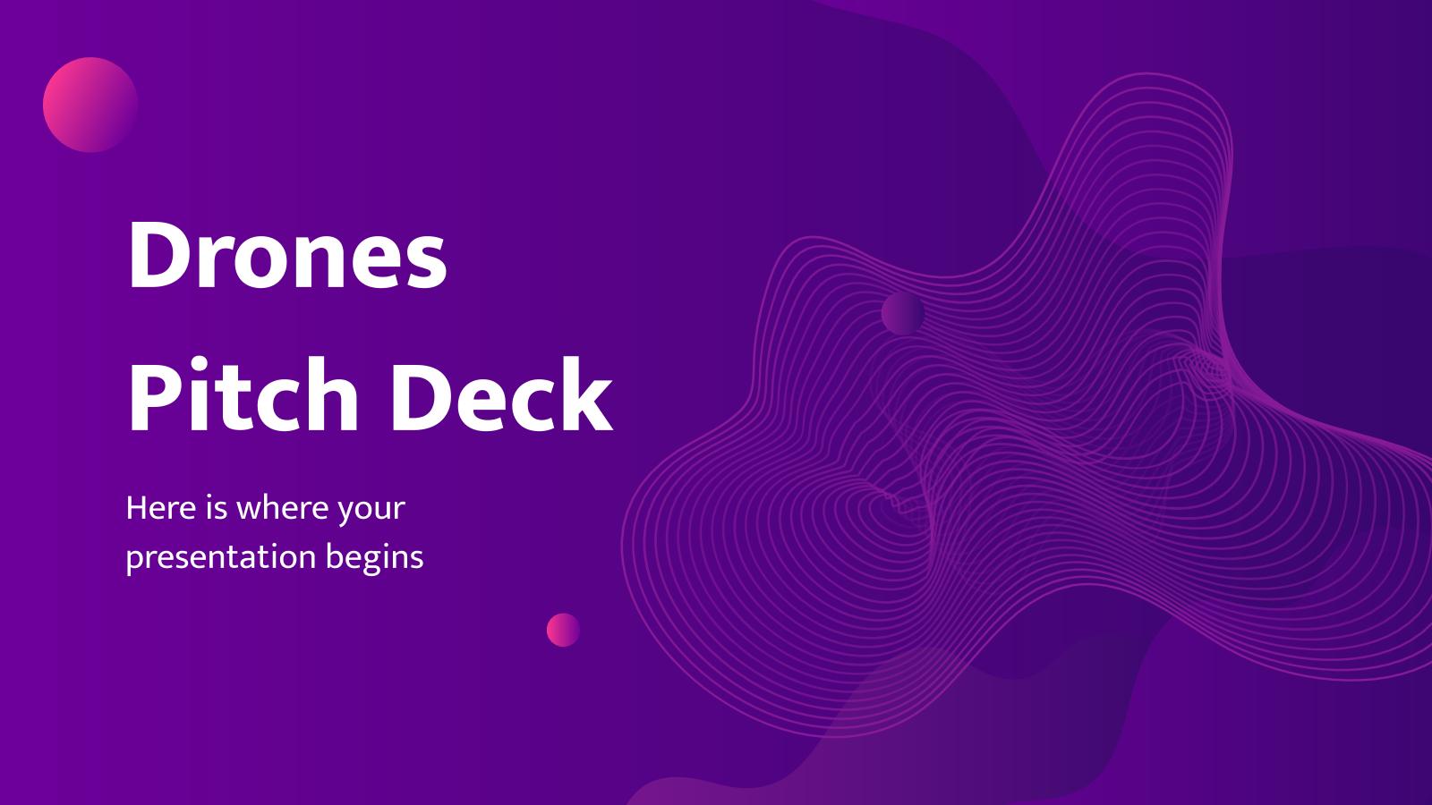 Pitch Deck Drones : Modèles de présentation