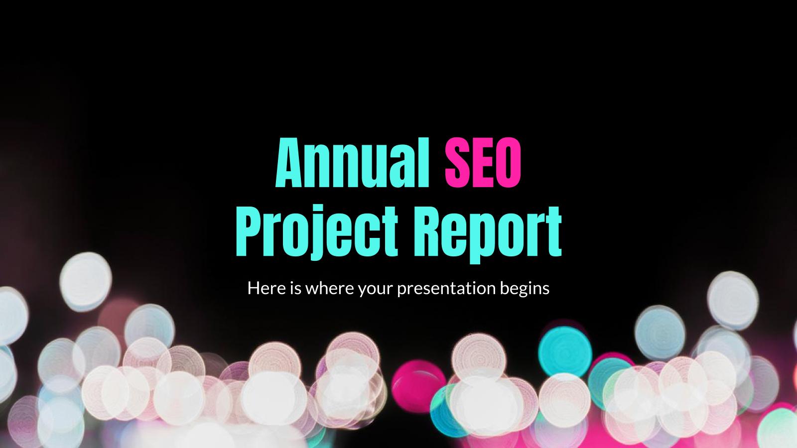 Rapport annuel sur le projet de référencement : Modèles de présentation