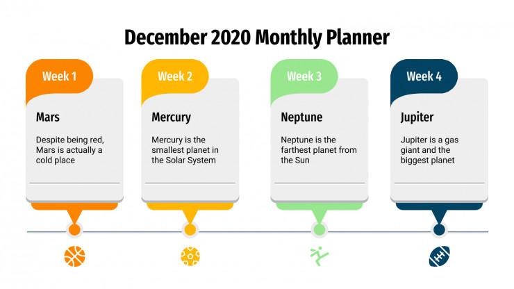 December Monthly Planner Infographics presentation template