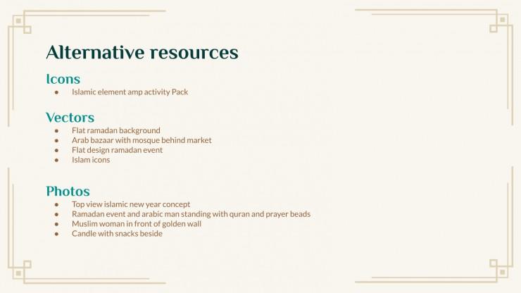Arabic Culture & Language Lesson presentation template