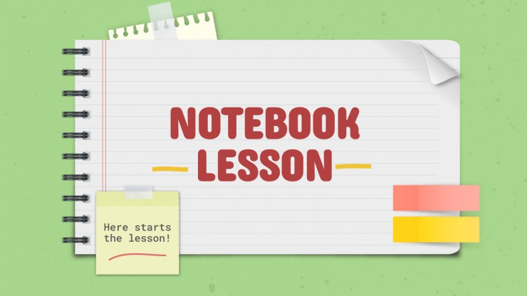 Notebook Lesson presentation template