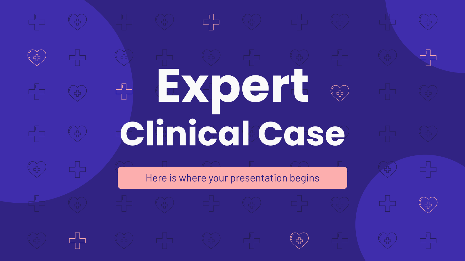 Expert Clinical Case presentation template