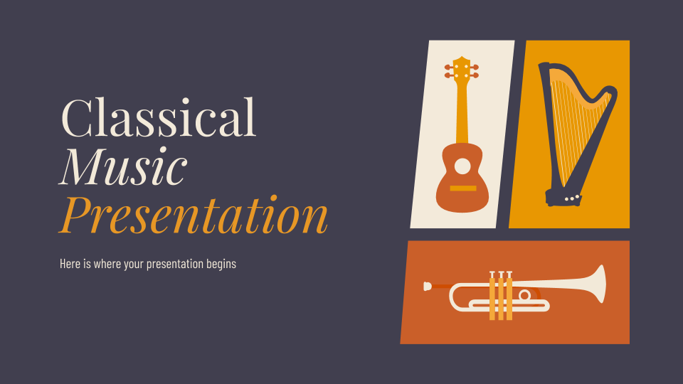 Classical Music presentation template