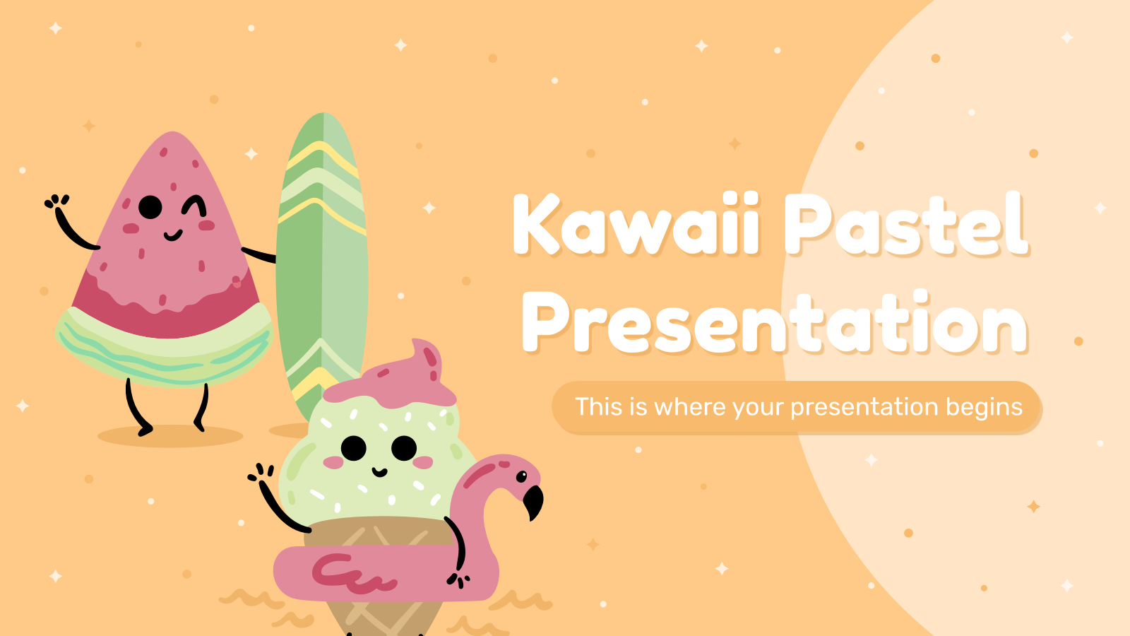 Kawaii Pastel presentation template