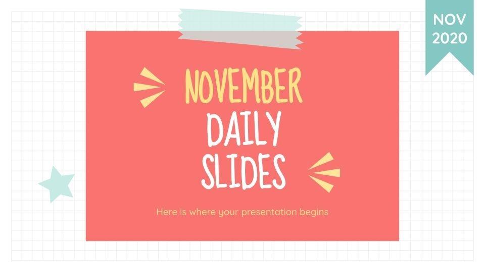 Modelo de apresentação Novembro dia a dia