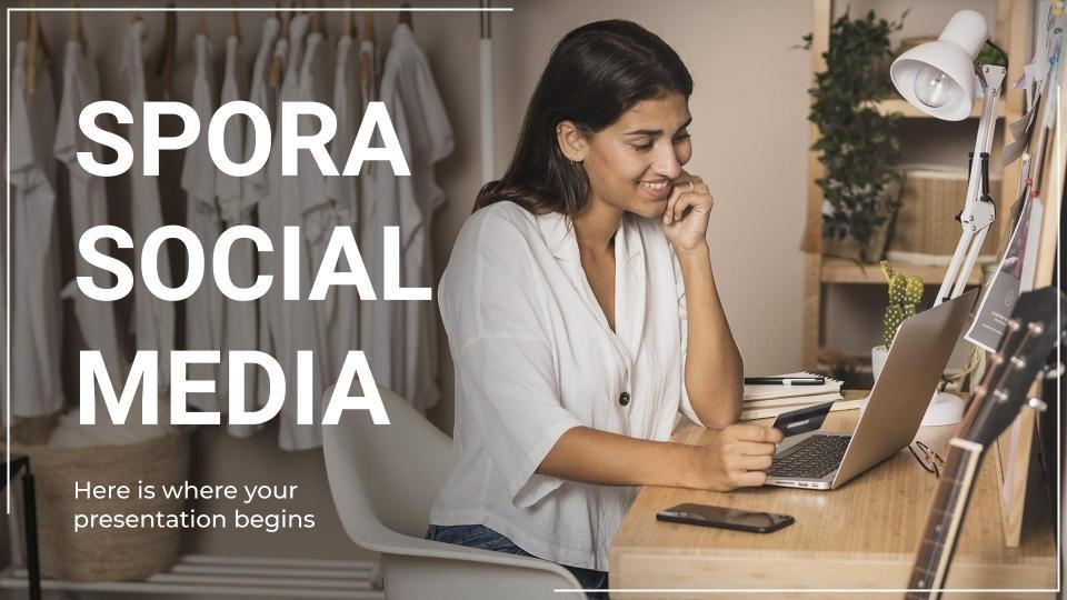 Modelo de apresentação Mídia social Spora