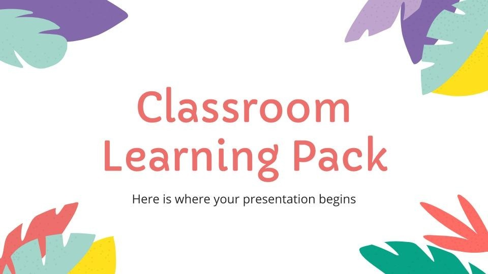 Classroom Learning Pack presentation template