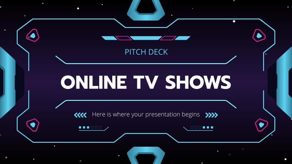 Online Tv Shows Pitch Deck presentation template