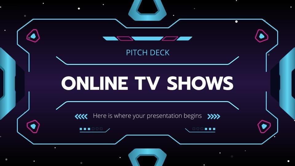 Plantilla de presentación Pitch deck programa tv online