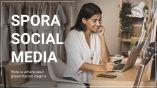 Plantilla de presentación Spora Social Media