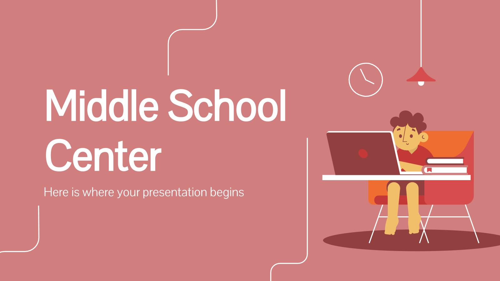 Middle School Center presentation template