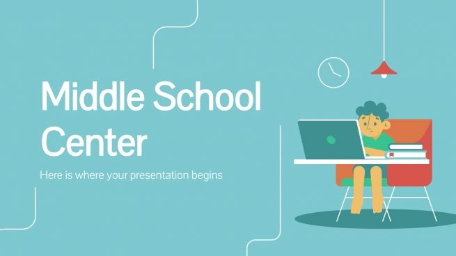 Middle School Center presentation template