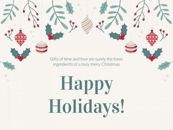 Christmas Greetings presentation template