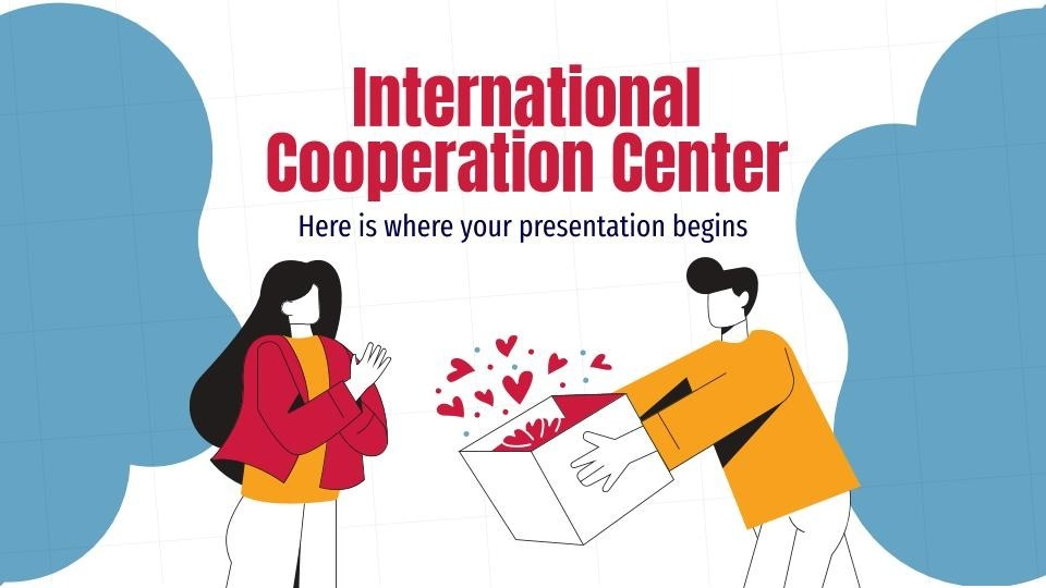 International cooperation center presentation template
