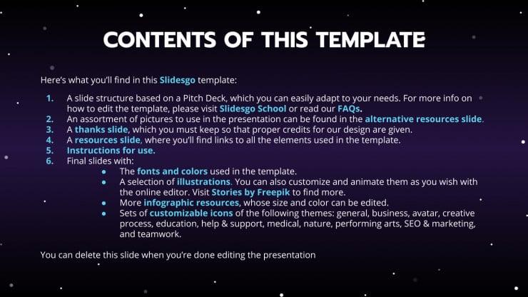 Online Tv Shows Pitch Deck presentation template