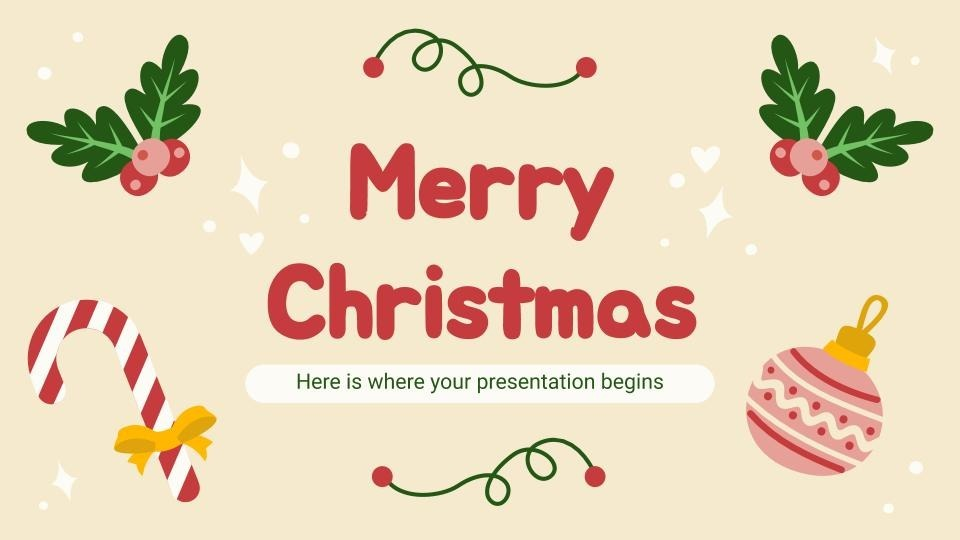 Merry Christmas presentation template