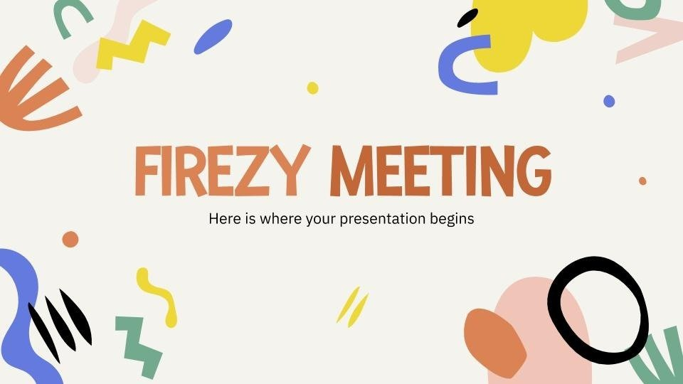 Firezy meeting presentation template