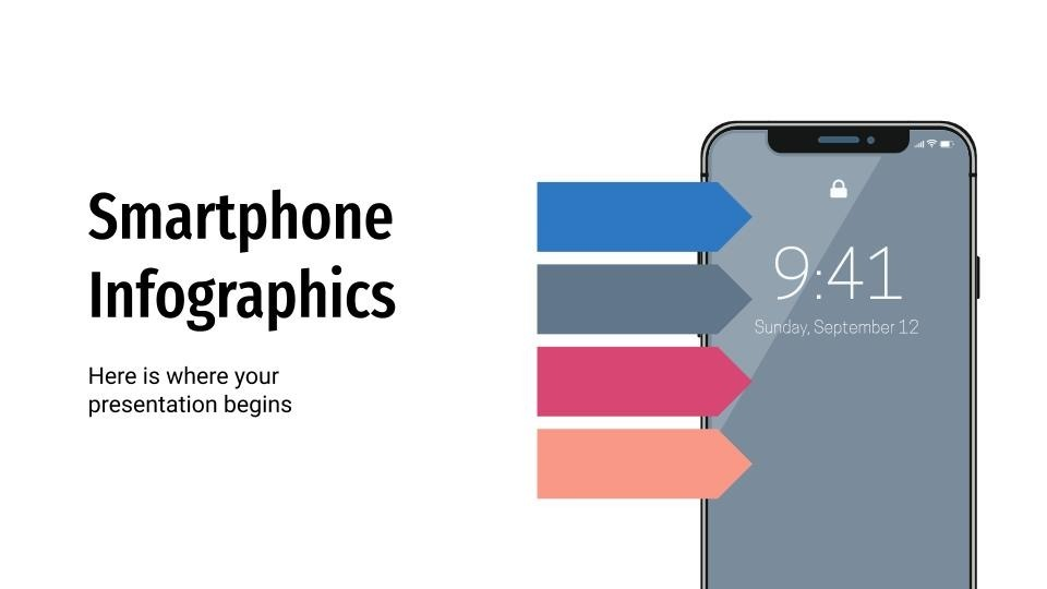 Smartphone infographic presentation template